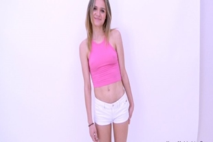 Lively sexy girl sucks cock at modeling audition