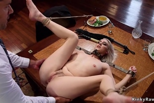 Blonde with step sister sharing her husband