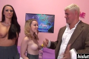 Alexis Grace and her friend take turns at getting their cunts fucked