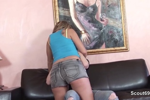 Sexy German Milf Fuck With Young Boy After School