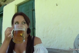 Young German Bavarien Teen Get Fucked Outdoor by Step D