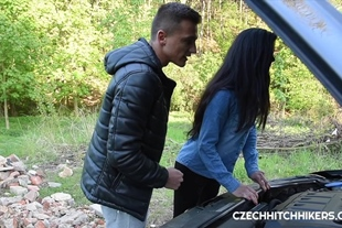 CzechHitchHickers · Public fuck