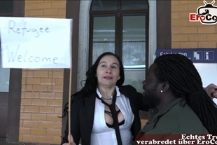 german housewife pick up a refugee and wants bcc