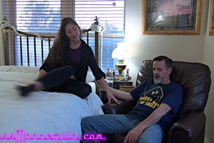 Finger-Fucking Chastity Leigh As I Jerk My Cock