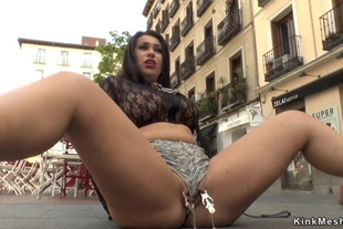 Pawg beauty banged outdoor in public