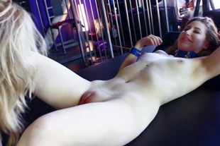 Nina Hartley feasting on young pussy
