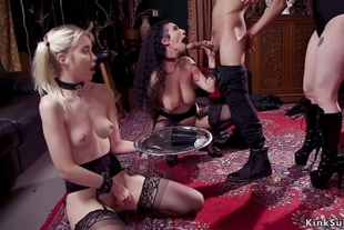 Hot slaves anal banged and whipped