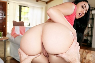 Mandy's special booty dances on huge white dick
