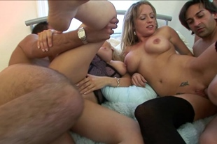Group sex with Sasha Rose and Alicia Rhodes
