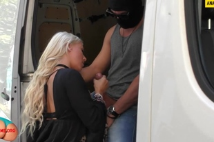 Sexy German woman was taken hostage and fucked in truck