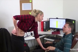 Colleague Teen seduce the new Guy to Fuck on Work