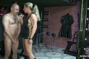 Two German MILF Femdom Slave and Blackmail to eat