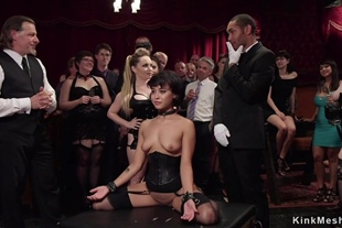 Hot slave serves in pile driver and squirts