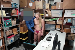 Teen in uniform fucked for stealing
