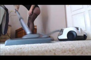 780039 Woman Vacuums The Carpet