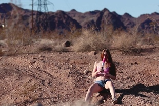 FreckledRED 152 Squirting with A Dildo in the Desert