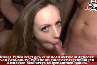 german hardcore creampie sexparty with cumshots