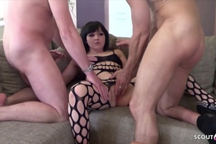 Real Amateur Group Sex for German College Teen Kimberly