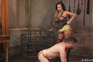 Alt couple fucking on submissive male