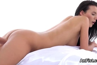 Naughty lesbo centerfolds are fist fucking wet pussies