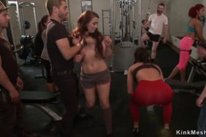 849357 Slave Fucked At Crowded Gym