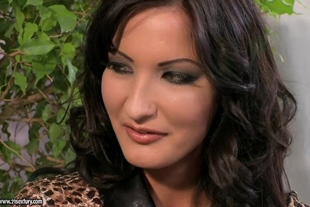 Demi C. Bailey sex in panther coat